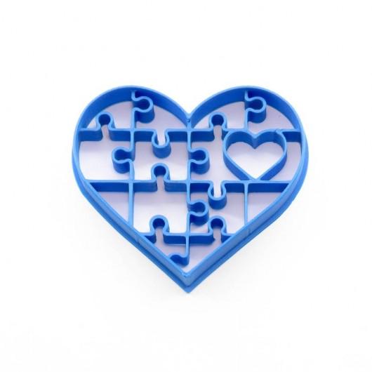 Puzzle srdce   Vykrajovátko