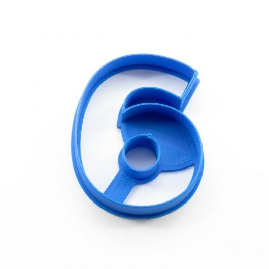 Číslice 6   Vykrajovátko